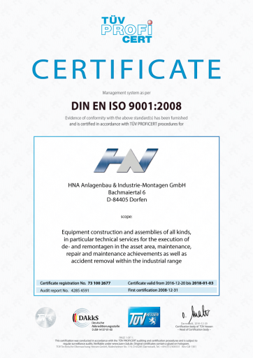 ISO9001-Certificate, english